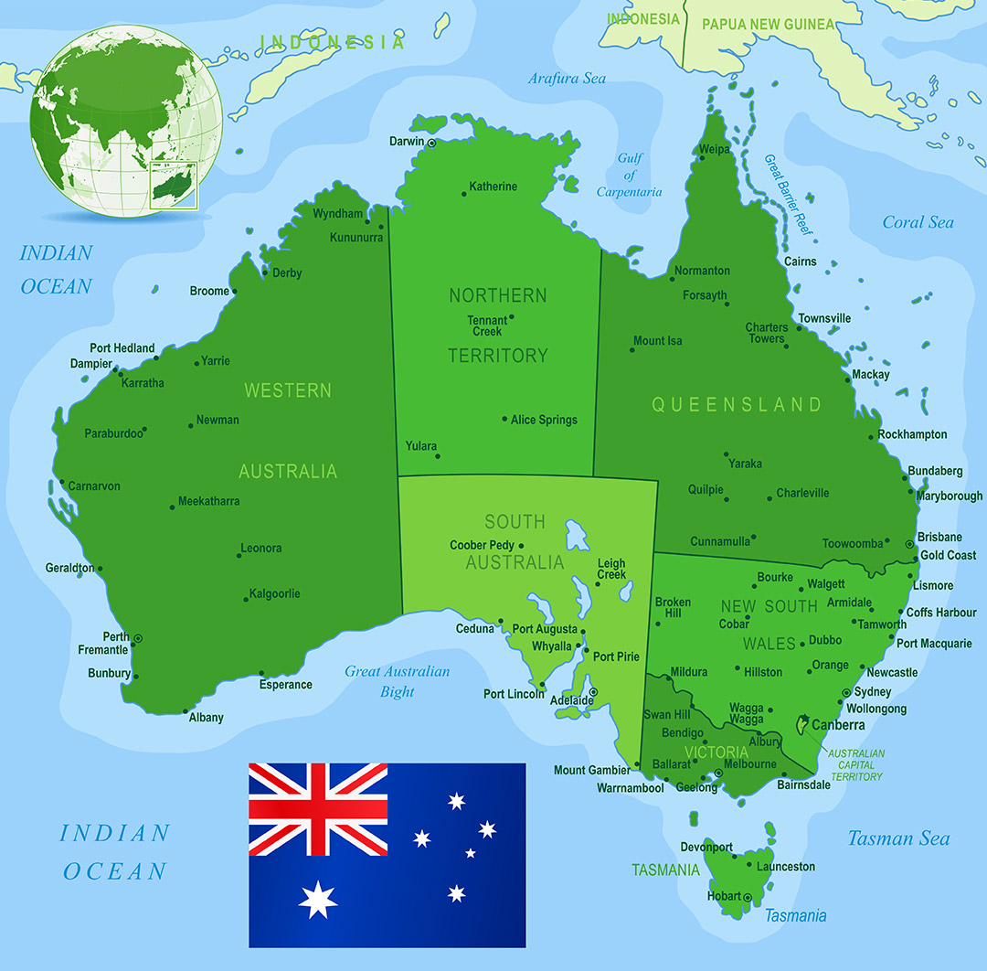 Tourist Map Of East Coast Of Australia.Tourism In Sa And Nt Austrian Consulate Sa Nt
